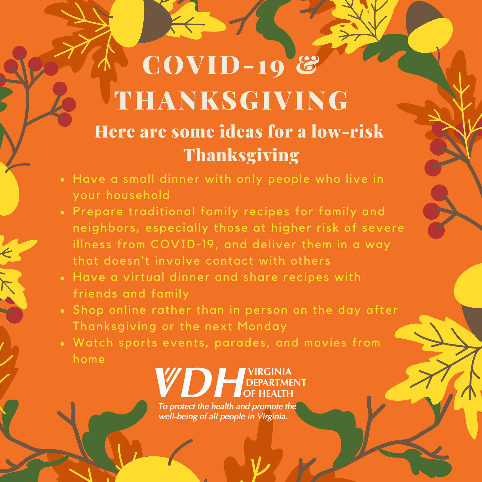 Thanksgiving and COVID Tips