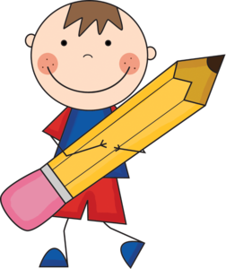 Child with a pencil