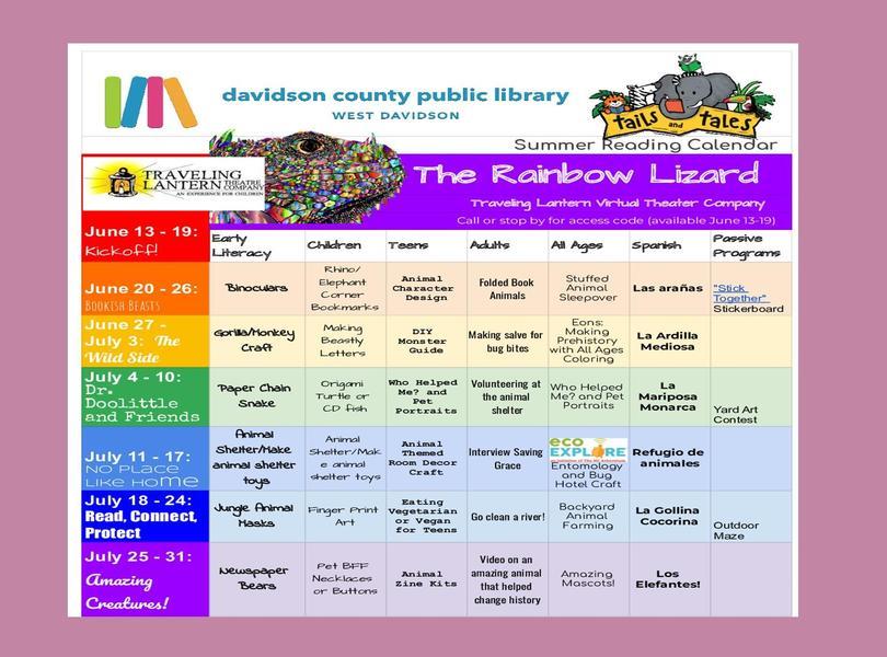 WDPL summer reading programs