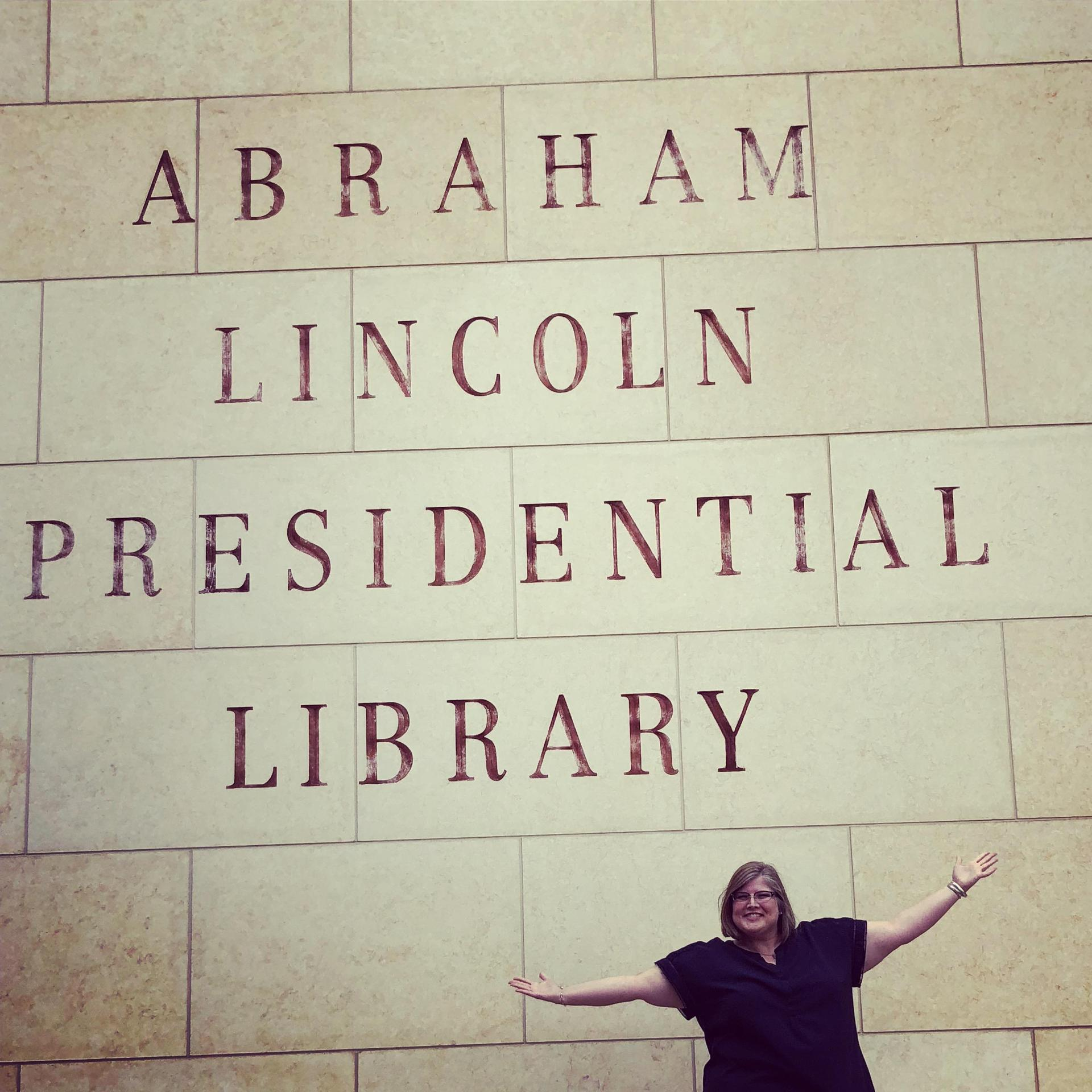 Miss Love at the Lincoln Presidential Library