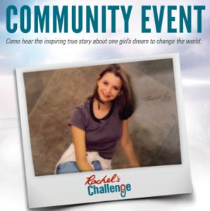 Photo of Rachel's Challenge Community Event Invite