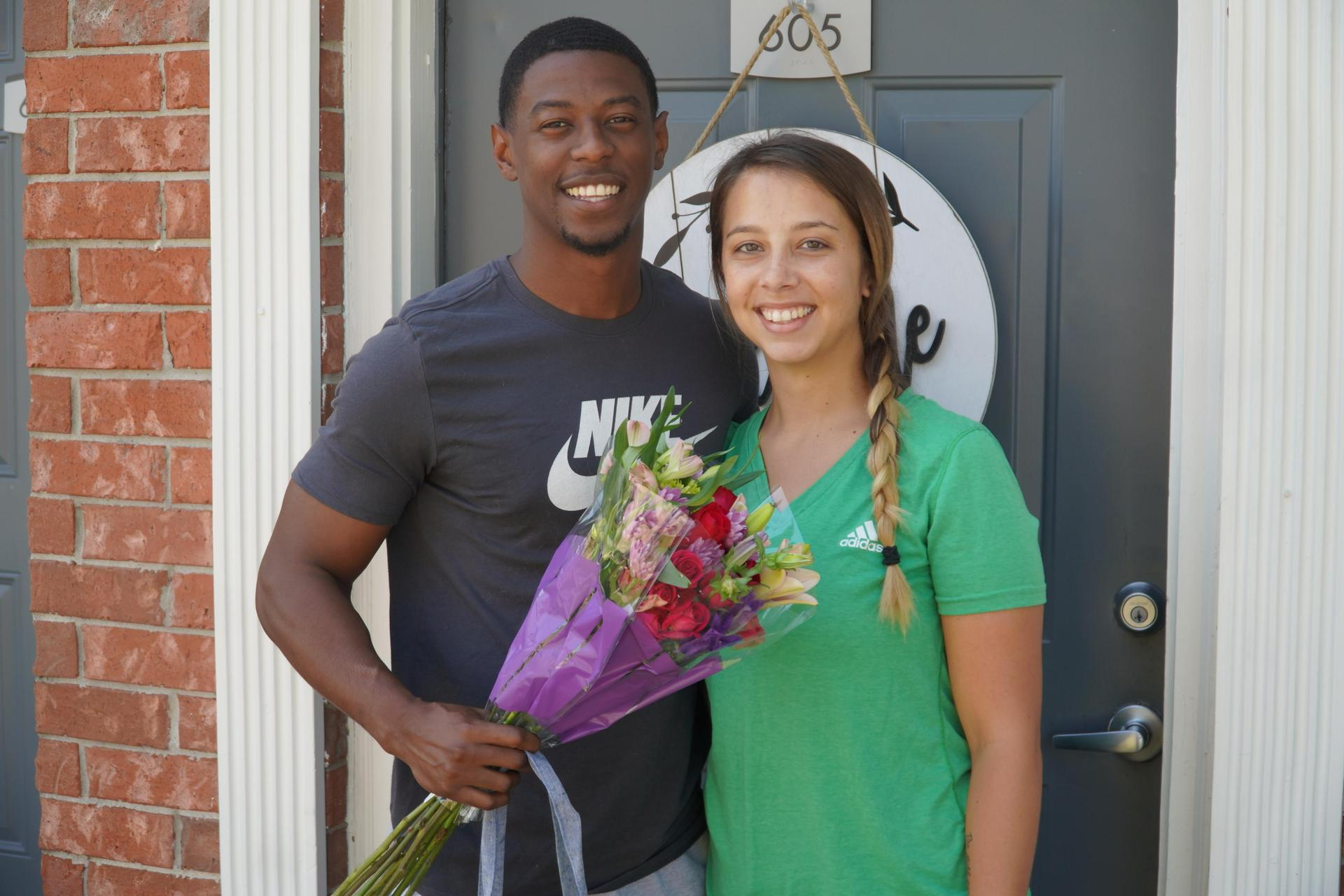 Kyle Brown and his fiancee