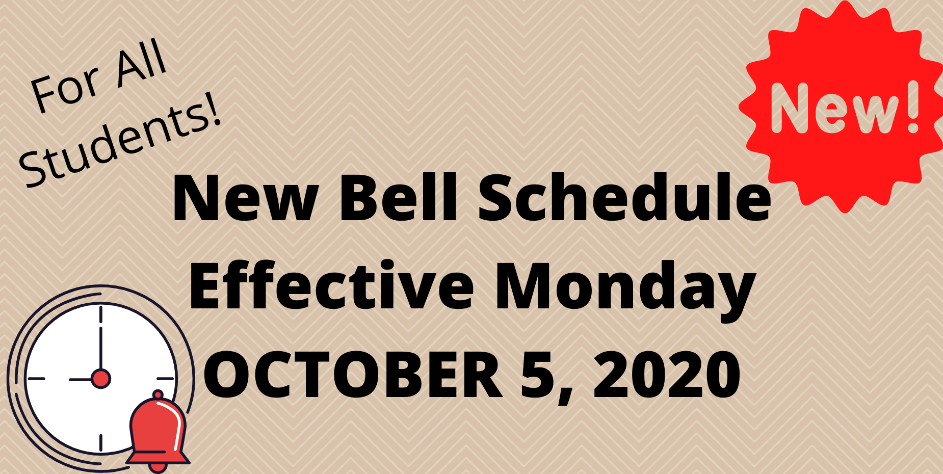 clock and bell schedule information.
