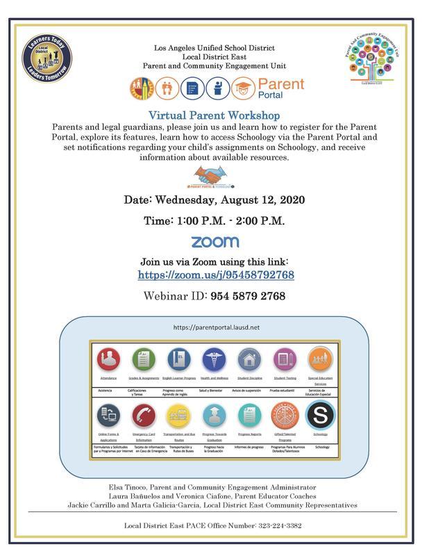 Parent Portal Virtual Parent Workshop Featured Photo