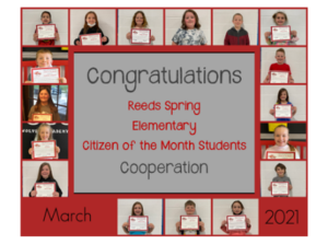 Citizens of the Month