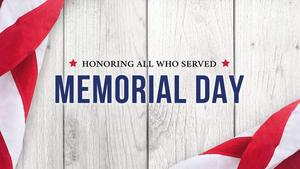 Memorial Day Observed (schools closed)