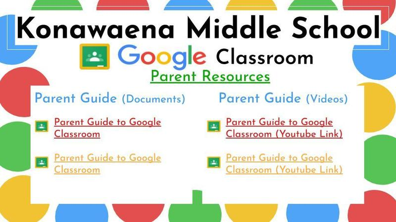 Google Slide Image of Parents Guide to Google Classroom Resources