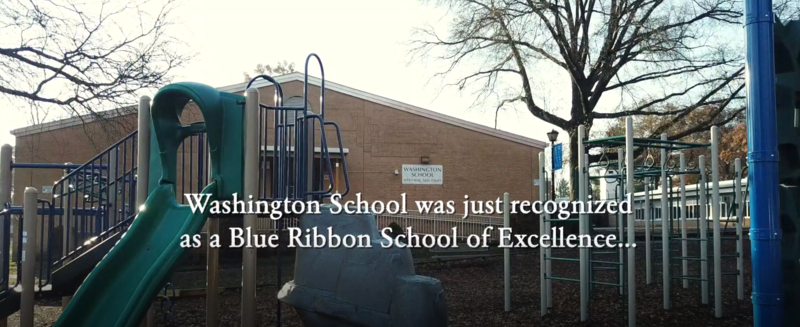 Photo of Washington School and playground.