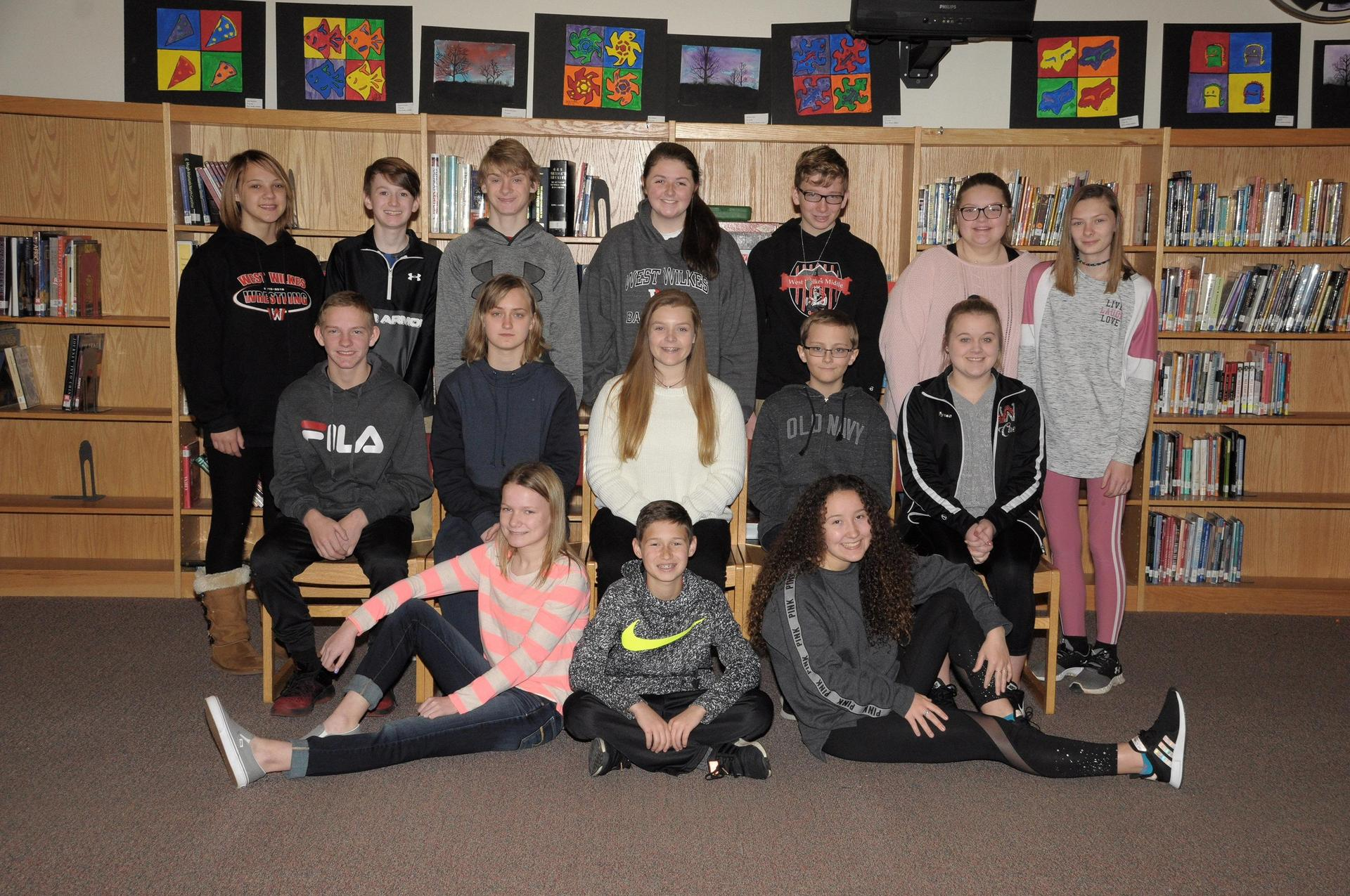 Image of 8th grade ambassadors.