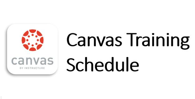 canvas training schedule