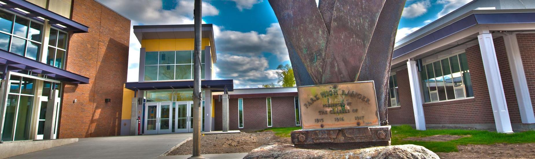 Entrance of Park High School