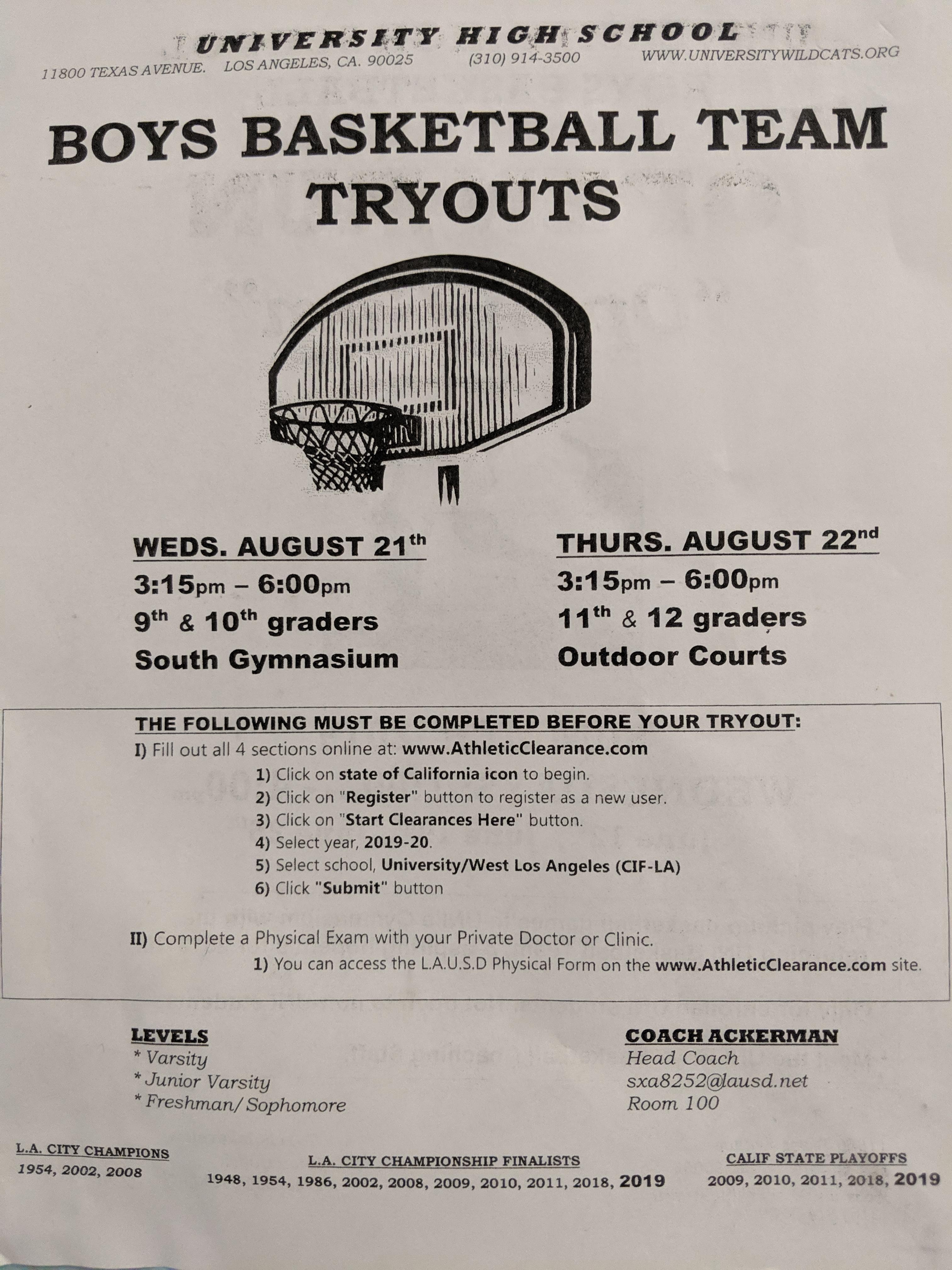 sports physical form lausd  Athletic Tryouts and Forms – Athletics – University High ...