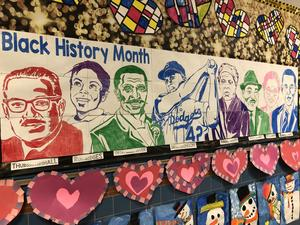black history month mural