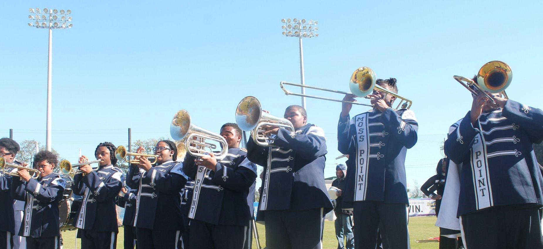Band members playing