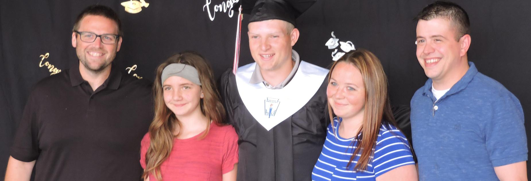 grad and his family