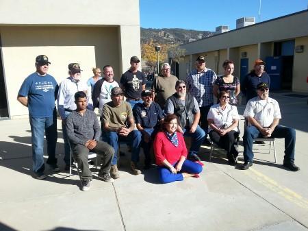Principal Robilotta with our Veterans