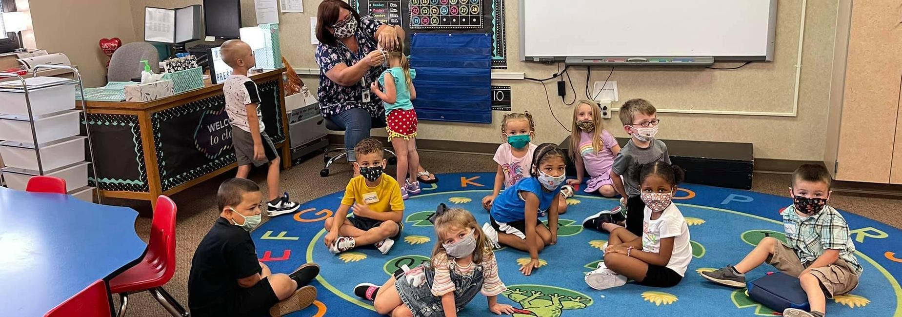 Preschool students at Crestdale Elementary