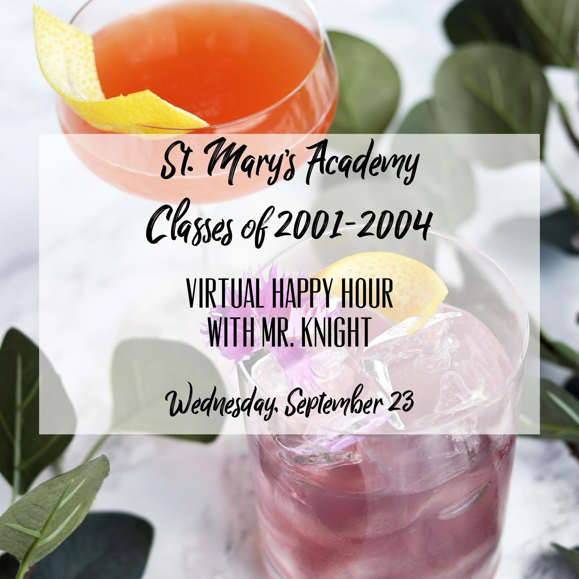 virtual happy hour invitation