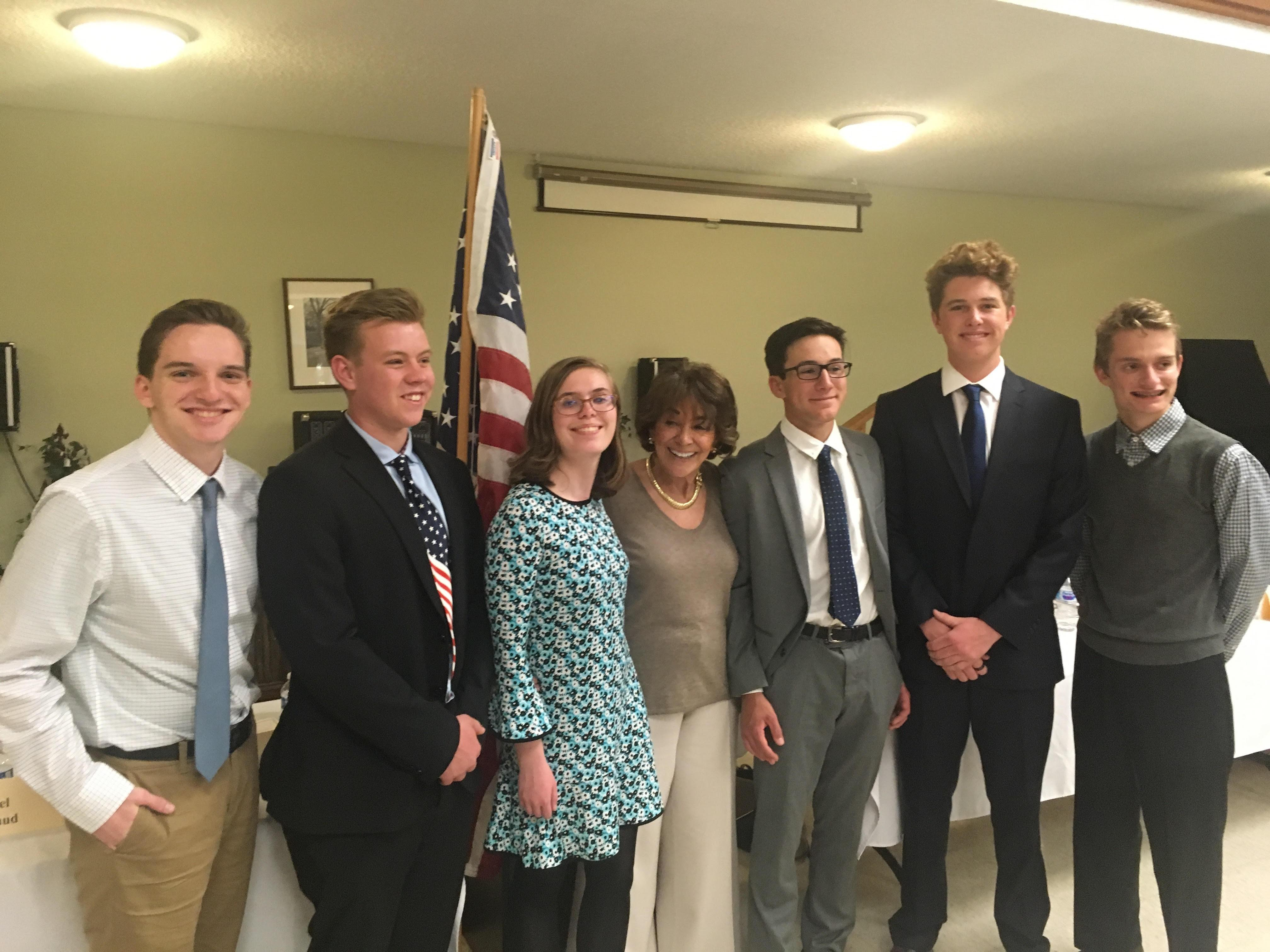 anna eshoo and students