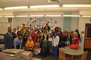 Jmfa Teachers & Admin dressed for halloween