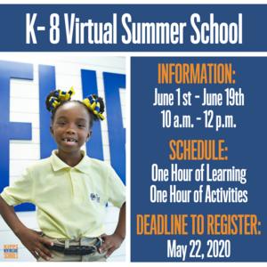 K-8 Virtual Summer School