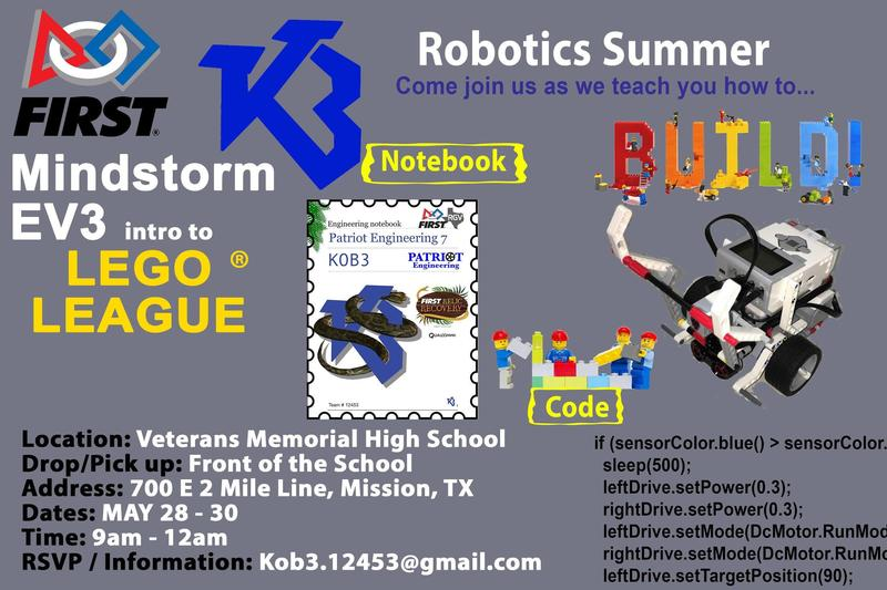 Patriot Engineering summer camp flyer