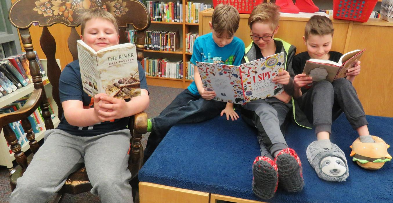 Page students enjoy slipper day!