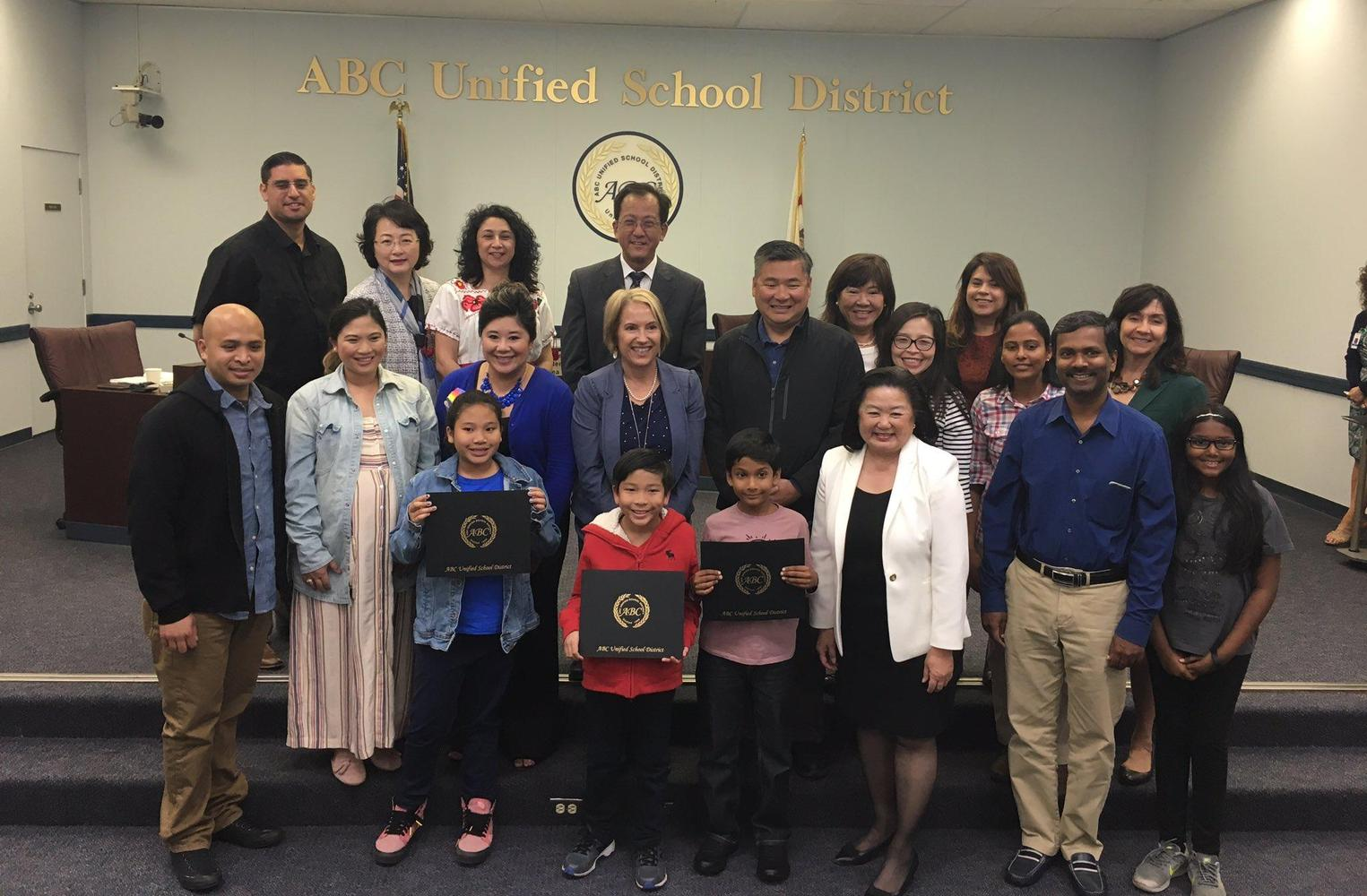 Students recognized at board meeting