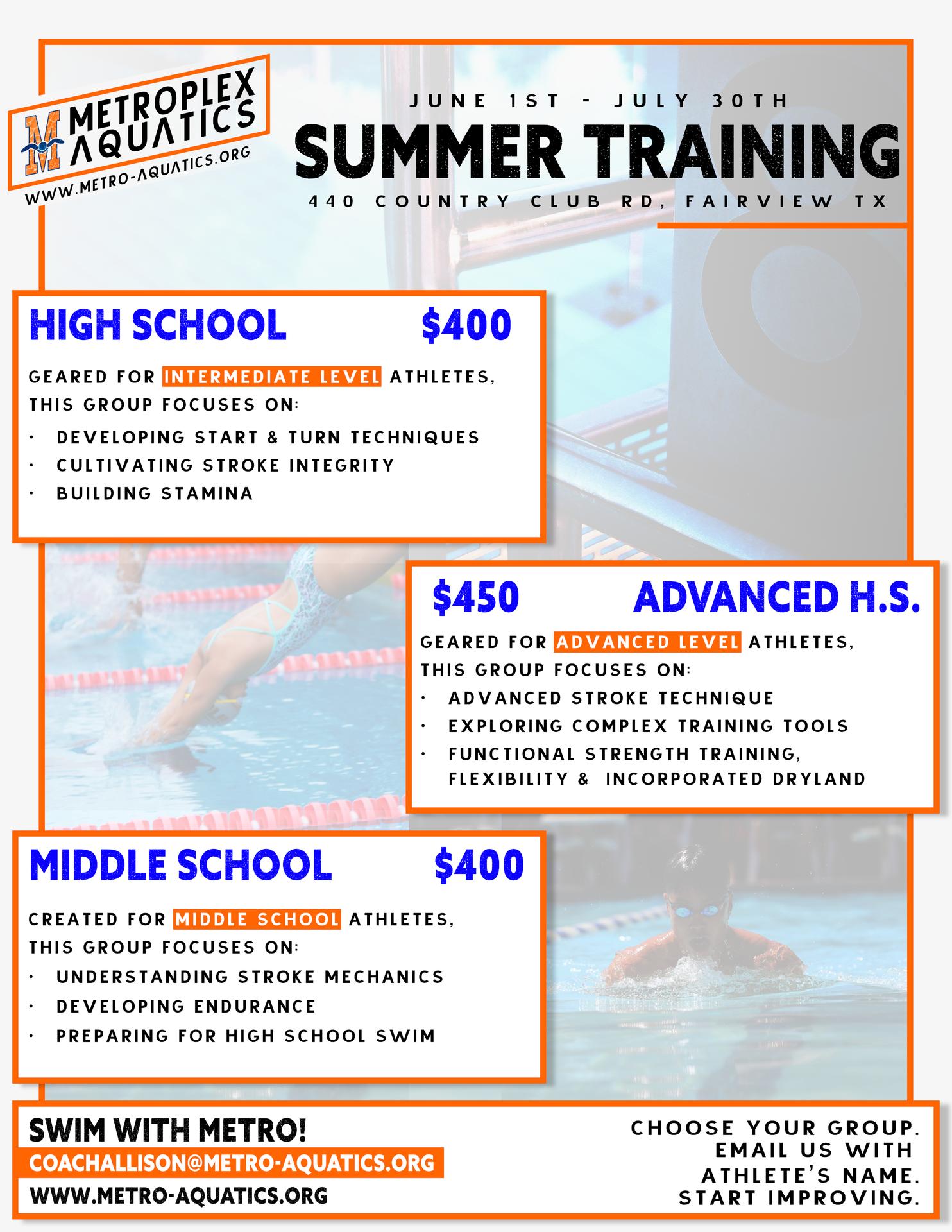 HS Swim Camps