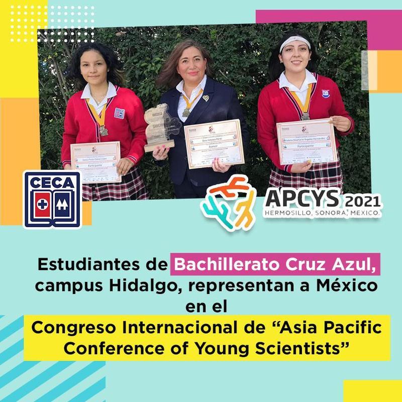 """Estudiantes de Bachillerato Cruz Azul, campus Hidalgo,representan a México en el Congreso Internacional de """"Asia Pacific Conference of Young Scientists"""" Featured Photo"""