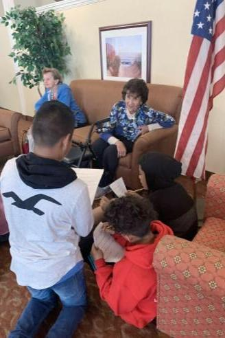 Students Interview Brookdale Residents