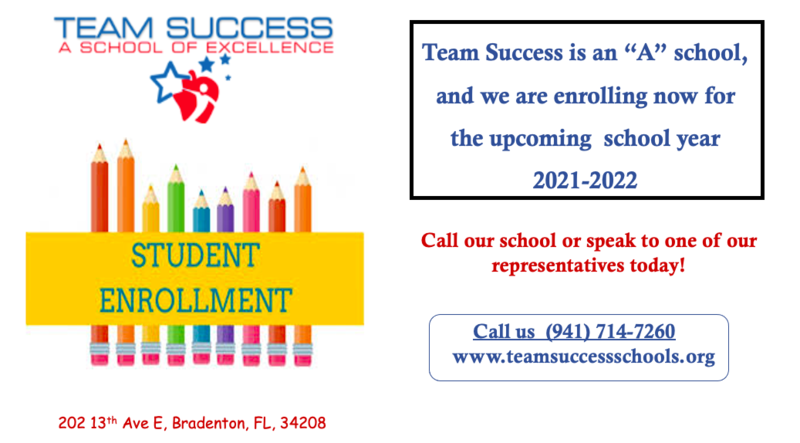 Enroll Now for the 2021-2022 school year at Team Success! Featured Photo