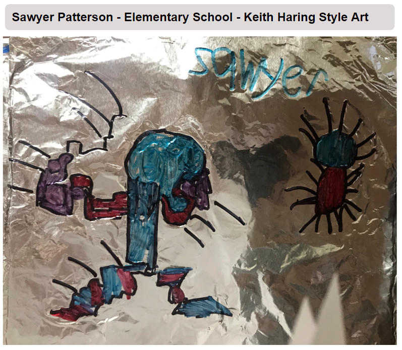Sawyer Patterson - Elementary School - Keith Haring Style Art