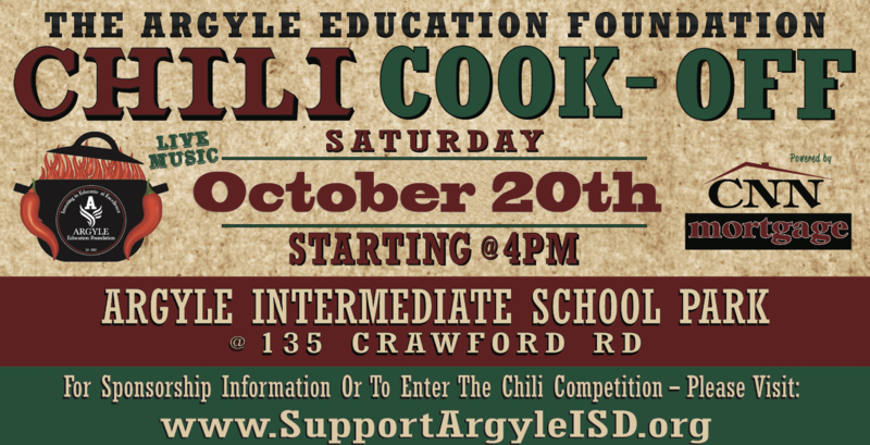 THE ARGYLE EDUCATION FOUNDATION CHILI COOK - OFF SET FOR OCTOBER 20TH Thumbnail Image