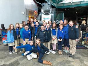 Fifth graders at Ripley's Aquarium