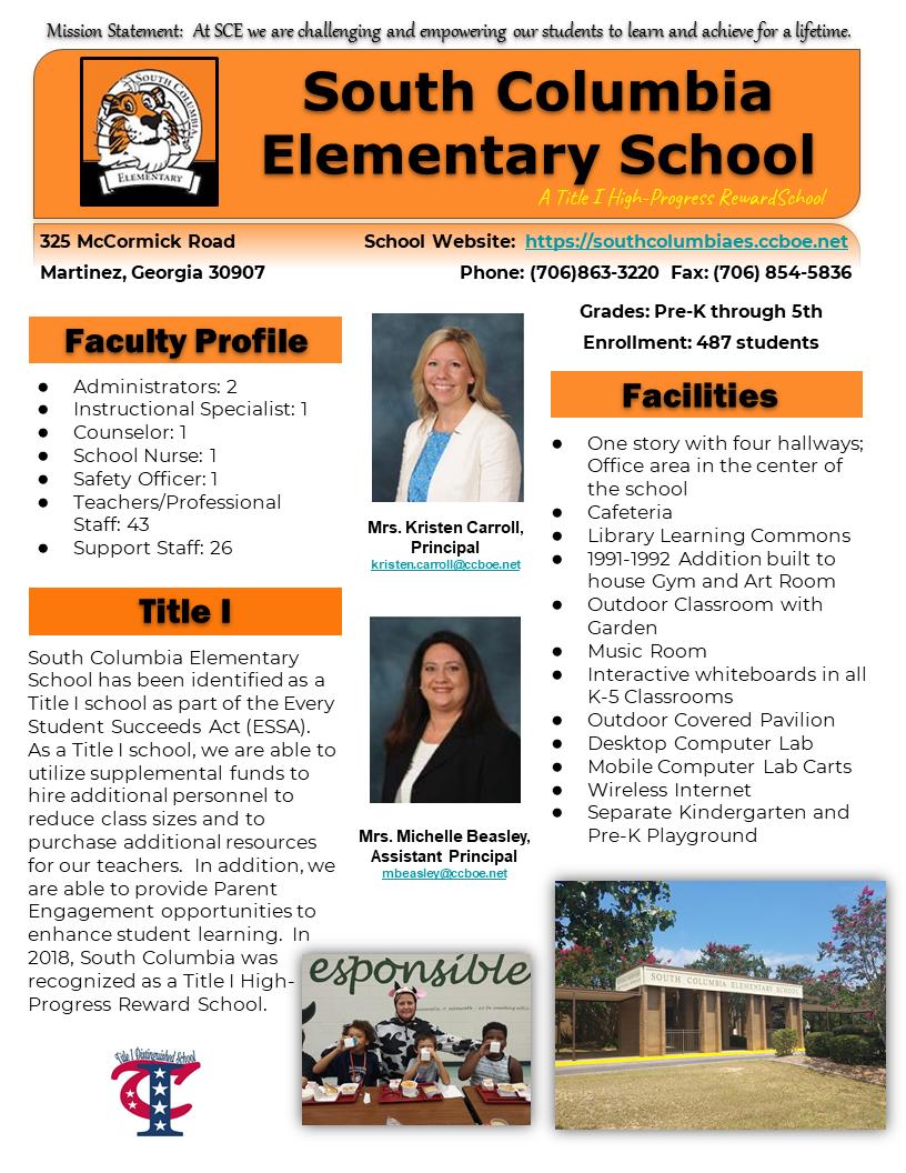 2018-2019 School Profiile
