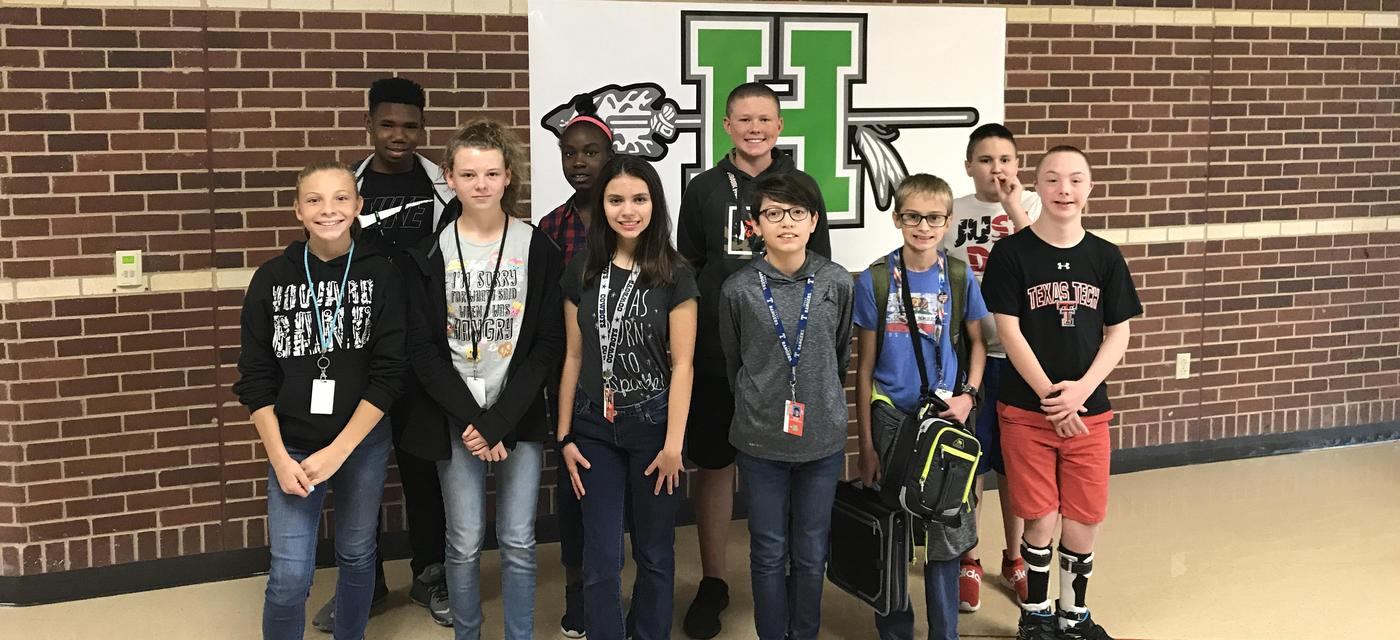 seventh grade students of the month