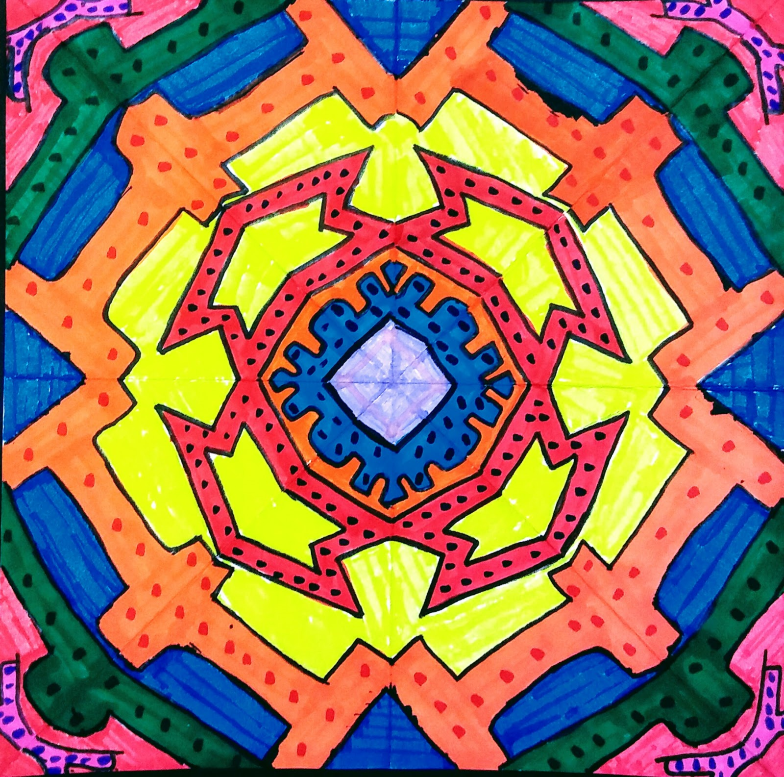 Landmark Student Drawing of Mandala