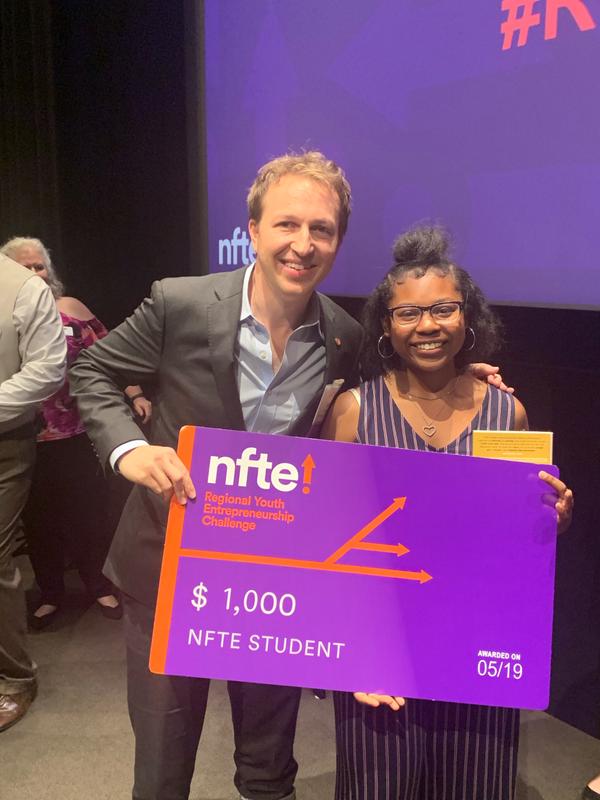 Naije'e Hanley won the LA Regional NFTE Competition! Featured Photo
