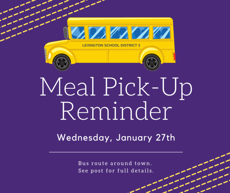 Free Meal Pick-Up Event Scheduled for Wednesday, January 27th