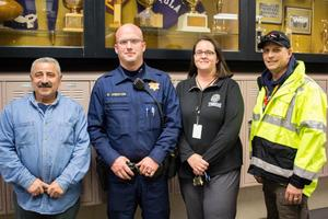 Administrators and Police Officer during ALICE Drill at PHS