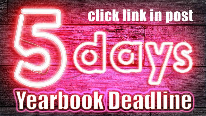 Flyer - 5 days to order yearbook.
