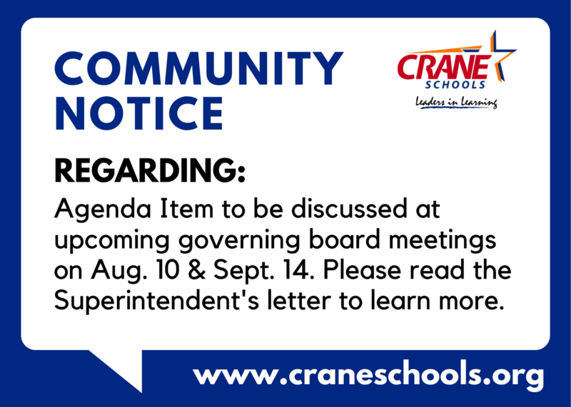 Notice: Agenda Item at Governing Board Meeting Featured Photo