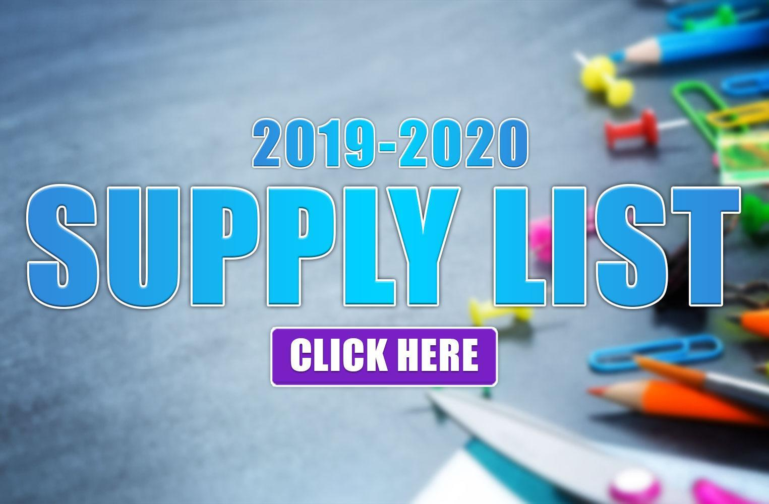 Morse Elementary 2019-2020 School Supplies