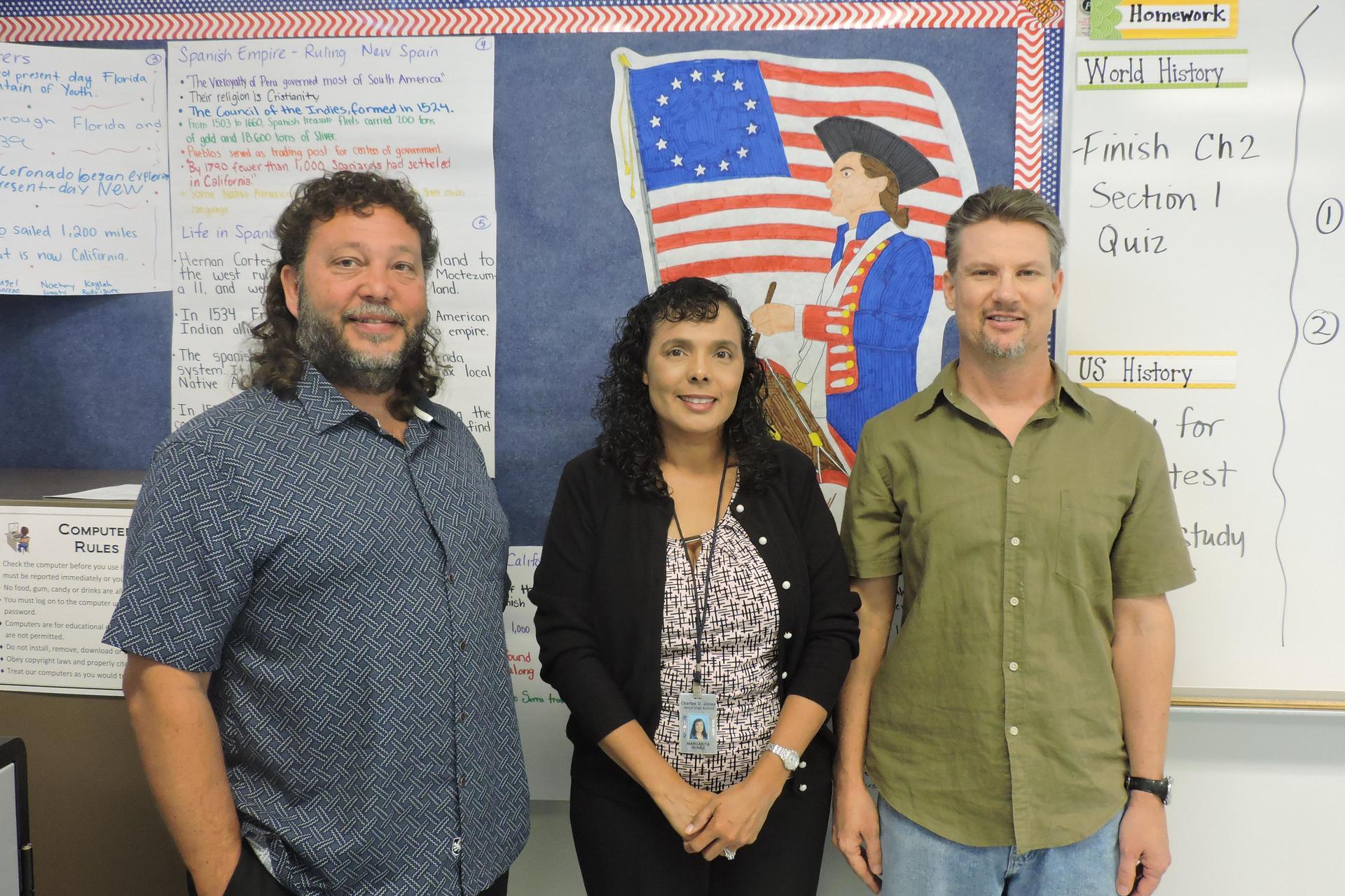 picture of Mr. Castillo, Mrs. Nunez, and Mr. Shuttleworth