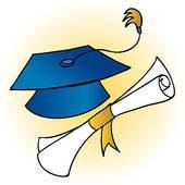 clipart of diploma and hat