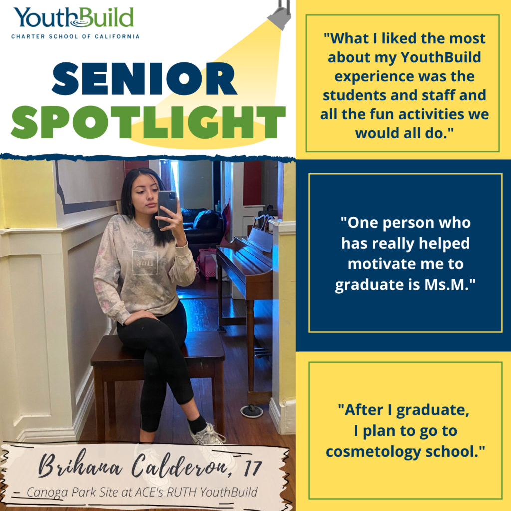 Senior Spotlight for graduate Brian Calderon