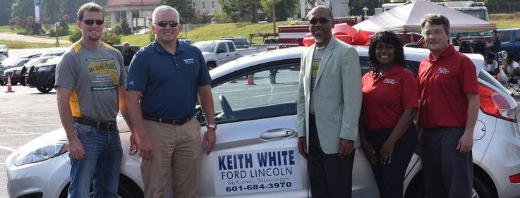 Keith White Ford car being donated