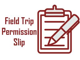 field trip permission slip