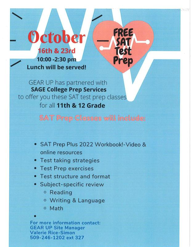 SAT Test Prep Classes for 11th & 12th grades - October 16th & 23rd Thumbnail Image